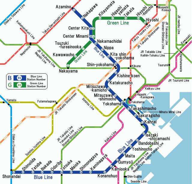 Sapporo Municipal Subway Map.Yokohama Municipal Subway Japanese Subway Japan Subway Association